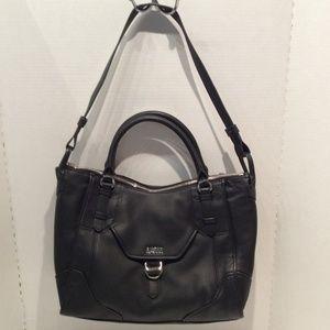 Aimee Kestenberg Pebble Leather Satchel Black NEW